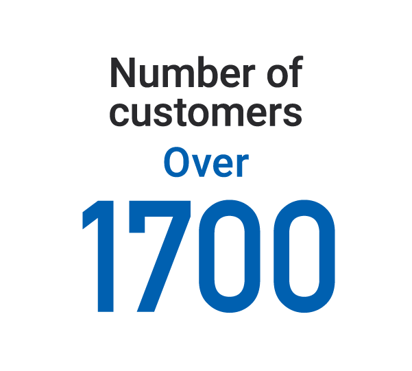 Number of customers: Over 1700