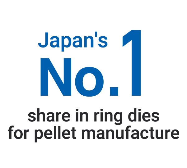 Japan's No.1 share in ring dies for pellet manufacture